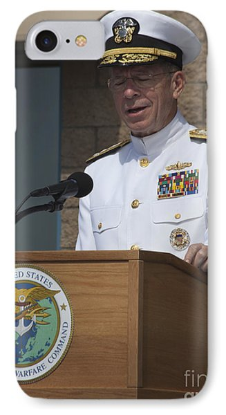 Admiral Mike Mullen Speaks IPhone Case