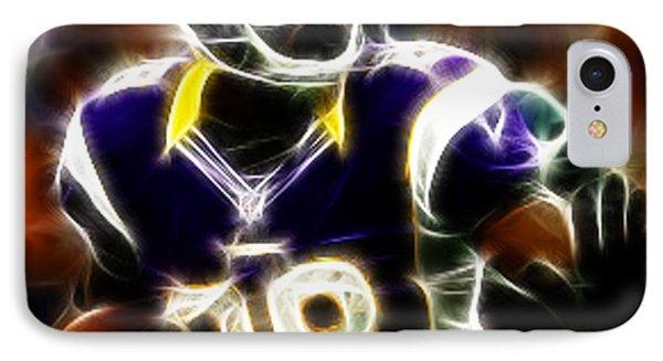 Adrian Peterson 02 - Football - Fantasy Phone Case by Paul Ward