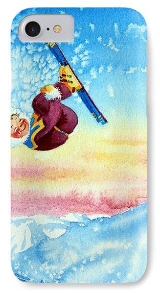 Aerial Skier 13 Phone Case by Hanne Lore Koehler