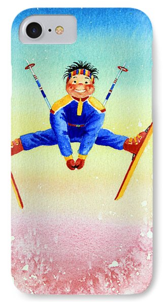 Aerial Skier 17 Phone Case by Hanne Lore Koehler