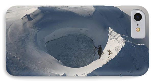 Aerial View Of Frozen Lake In Summit Phone Case by Richard Roscoe