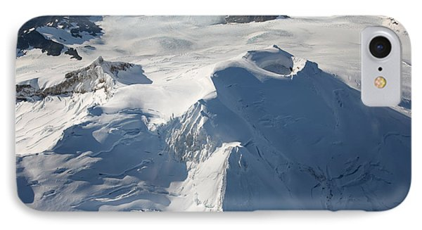 Aerial View Of Glaciated Mount Douglas Phone Case by Richard Roscoe