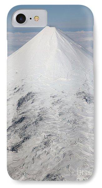Aerial View Of Glaciated Shishaldin Phone Case by Richard Roscoe