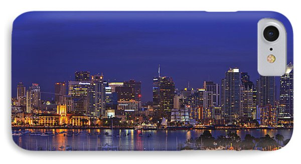 Aerial View Of San Diego Skyline With Phone Case by Stuart Westmorland