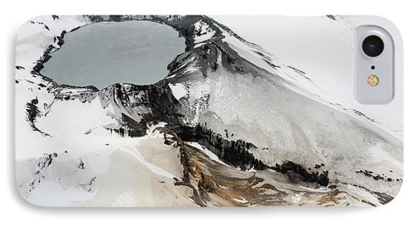 Aerial View Of Snow-covered Ruapehu Phone Case by Richard Roscoe