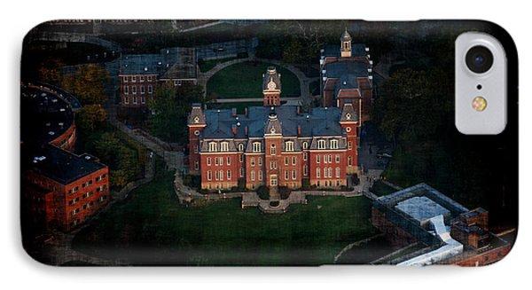Aerial Woodburn Hall In Evening Phone Case by Dan Friend