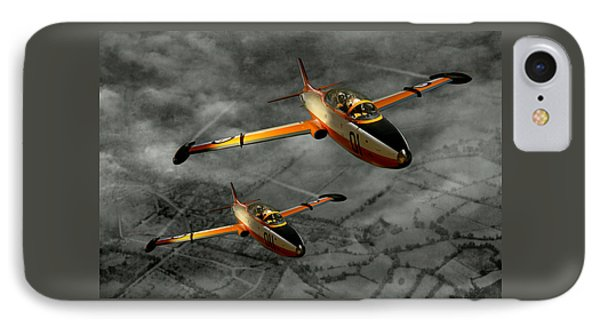 IPhone Case featuring the photograph Aermacchi In Flight by Steven Agius