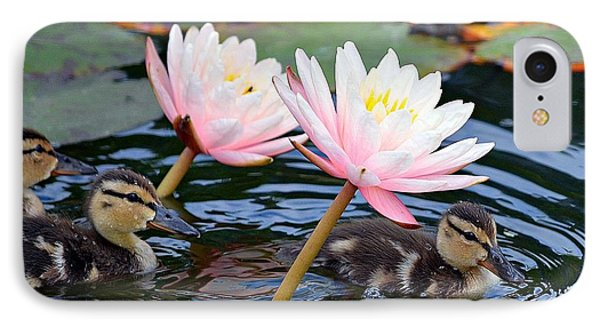 Afloat Among Lillies Phone Case by Fraida Gutovich
