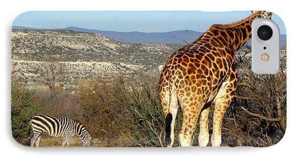 African Safari In Arizona Phone Case by Kim Galluzzo Wozniak