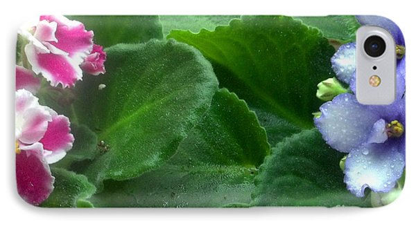 African Violets Intertwined II Phone Case by Nancy Mueller