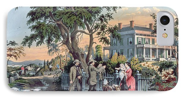After The Hunt IPhone Case by Currier and Ives