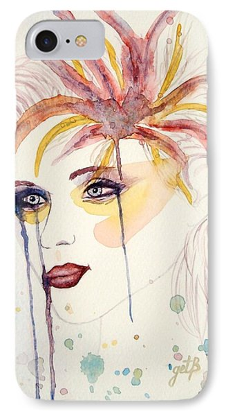 After The Show Watercolor On Paper Phone Case by Georgeta  Blanaru