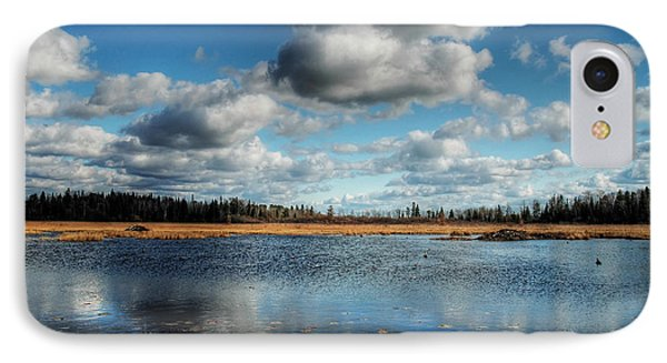 Afternoon Reflections At The Marsh Phone Case by Heather  Rivet