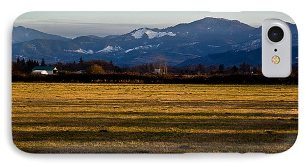 IPhone Case featuring the photograph Afternoon Shadows Across A Rogue Valley Farm by Mick Anderson