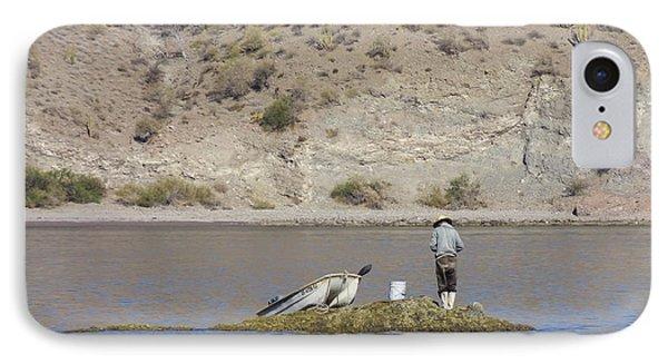 IPhone Case featuring the digital art Agua Verde Fisherman  by Anne Mott