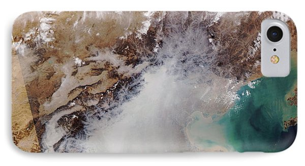 Air Pollution Over China Phone Case by NASA / Science Source