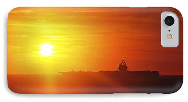 Aircraft Carrier Uss Enterprise Phone Case by Stocktrek Images