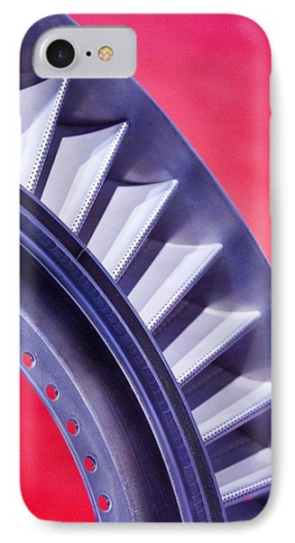 Aircraft Engine Fan Component Phone Case by Mark Williamson