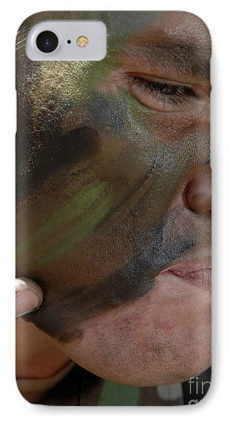 Airman Applies War Paint To His Face Phone Case by Stocktrek Images