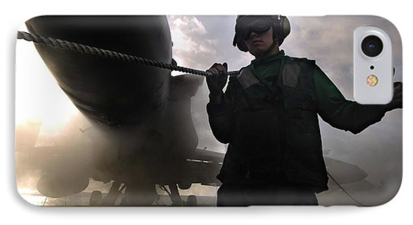 Airman Holds Up The Safety Shot Line Phone Case by Stocktrek Images