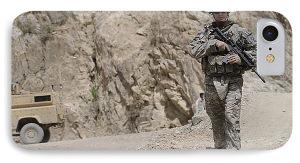 Airman Provides Security During Combat Phone Case by Stocktrek Images
