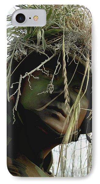 Airman Wearing A Ghillie Suit Phone Case by Stocktrek Images