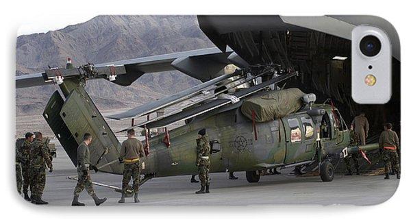 Airmen Load An Hh-60 Pave Hawk Phone Case by Stocktrek Images