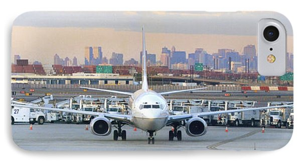Airport Overlook The Big City Phone Case by Mike McGlothlen