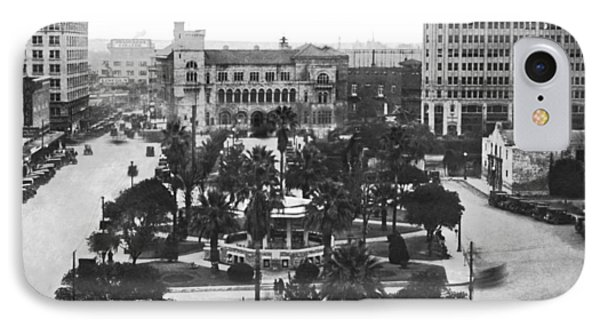 Alamo Plaza In San Antonio IPhone Case by Underwood Archives