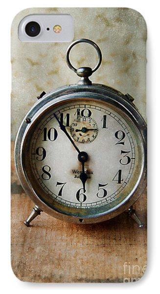 Alarm Clock Phone Case by Jill Battaglia