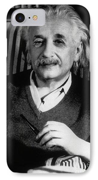 Albert Einstein, German-american Phone Case by Science Source