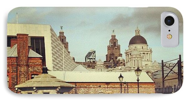 #albertdock #liverpool #city #uk IPhone Case