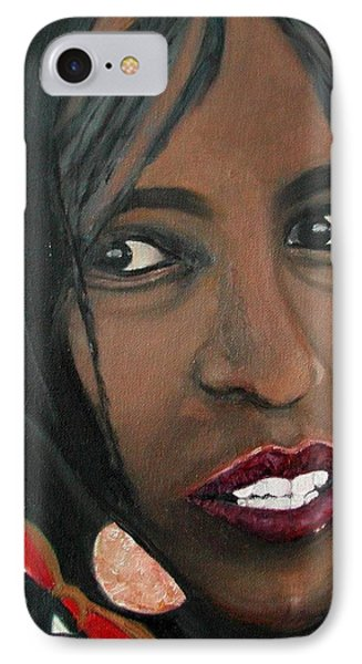 IPhone Case featuring the painting Alem E. W. by Anna Ruzsan