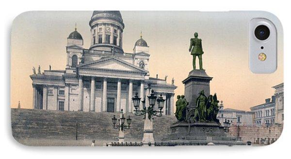 Alexander II Memorial At Senate Square In Helsinki Finland Phone Case by International  Images