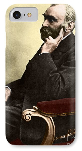 Alfred Nobel, Swedish Chemist Phone Case by Science Source