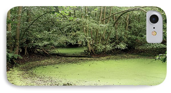 Algal Bloom In Pond Phone Case by Michael Marten