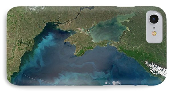 Algal Blooms In The Black Sea Phone Case by NASA / Science Source