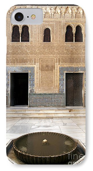 Alhambra Inner Courtyard Phone Case by Jane Rix