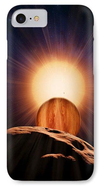 Alien Planet And Asteroid, Artwork Phone Case by Detlev Van Ravenswaay