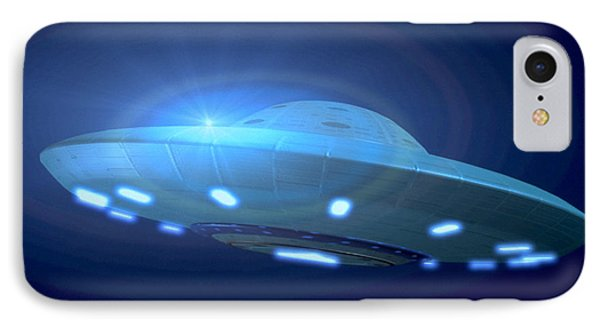 Alien Spacecraft Phone Case by Gregory MacNicol and Photo Researchers