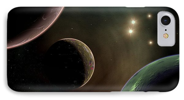Alien Worlds That Orbit Different Types Phone Case by Mark Stevenson