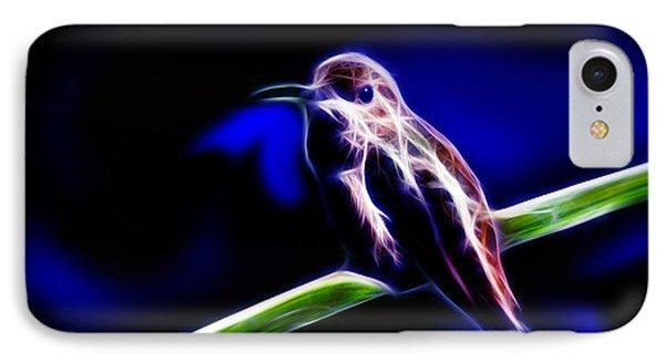 Allens Hummingbird - Fractal IPhone Case by James Ahn