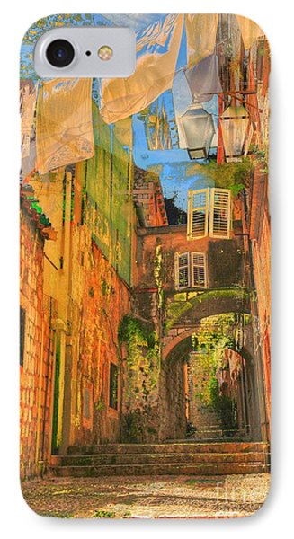 Alley In Croatia Phone Case by Alberta Brown Buller