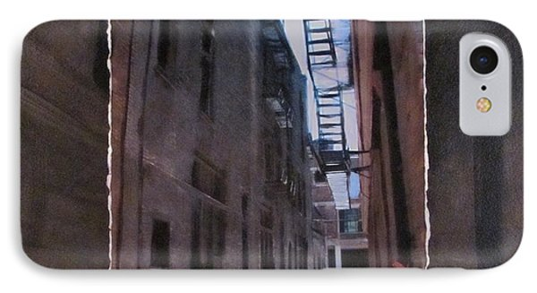 Alley With Fire Escape Layered Phone Case by Anita Burgermeister