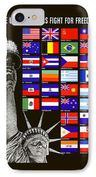 Allied Nations Fight For Freedom IPhone 7 Case by War Is Hell Store