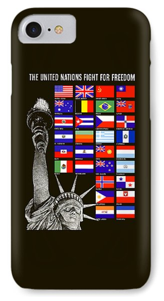 Allied Nations Fight For Freedom Phone Case by War Is Hell Store