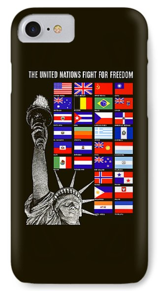 Allied Nations Fight For Freedom IPhone Case by War Is Hell Store