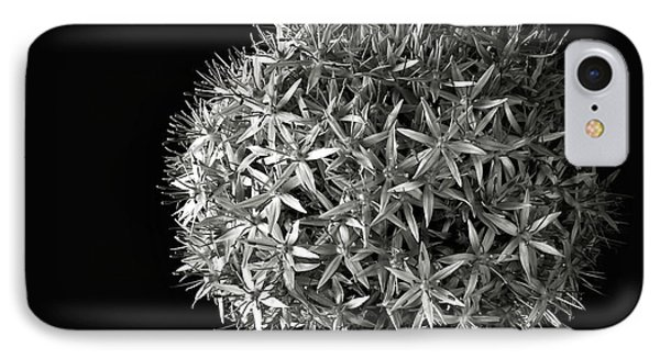 IPhone Case featuring the photograph Allium In Black And White by Endre Balogh