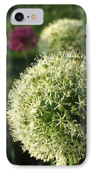 Allium Unique Floral IPhone Case by Rebecca Overton