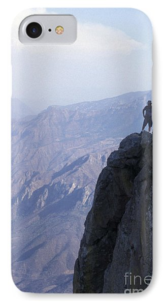 IPhone Case featuring the photograph Alone At Last Copper Canyon Mexico by John  Mitchell